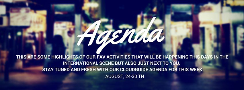 Agenda CloudGuide Week 24th-30th Aug