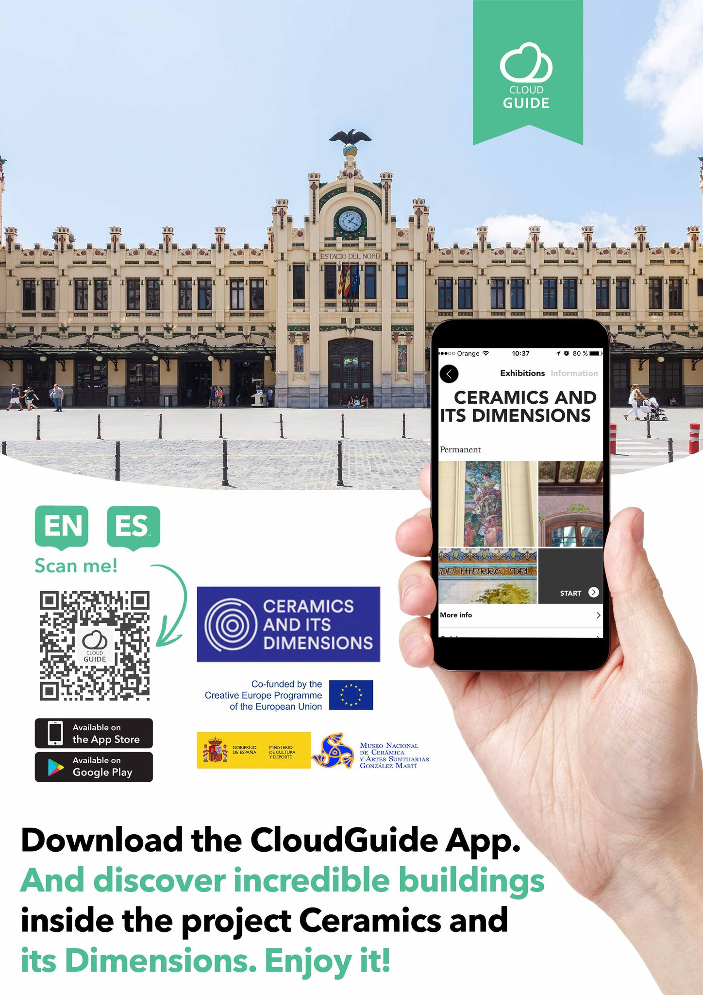 CloudGuide app - The official application for the 'Architectural Ceramics in Europe' project.